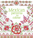 'Mexican patterns to colour' book cover