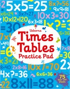 'Times tables practice pad' book cover