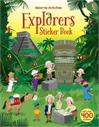'Explorers sticker book' book cover