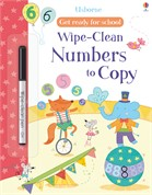 'Wipe-clean numbers to copy' book cover