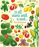 'It all starts with a seed… how food grows' book cover