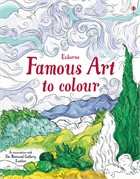 'Famous art to colour' book cover