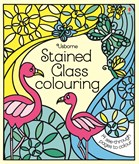 'Stained glass colouring' book cover
