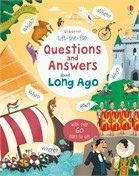 'Lift-the-flap questions and answers about long ago' book cover