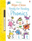 'Wipe-clean ready for reading phonics' book cover