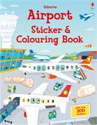 'Airport sticker and colouring book' book cover