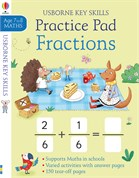 'Fractions practice pad 7-8' book cover