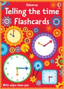'Telling the time flash cards' book cover