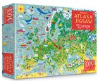 'Europe atlas and jigsaw' book cover