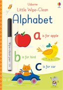 'Little wipe-clean alphabet' book cover