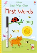 'Little wipe-clean first words' book cover