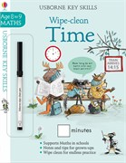 'Wipe-clean time 8-9' book cover
