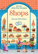 'Little first stickers shops' book cover