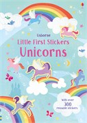'Little first stickers unicorns' book cover