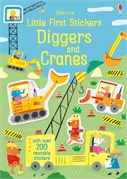 'Little first stickers diggers and cranes' book cover