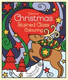 'Christmas stained glass colouring' book cover