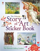 'Story of art sticker book' book cover