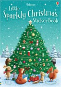 'Little sparkly Christmas sticker book' book cover