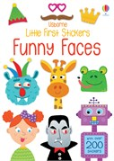 'Little first stickers funny faces' book cover