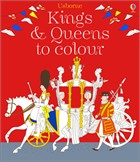 'Kings and queens to colour' book cover