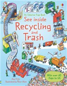 See inside recycling and trash