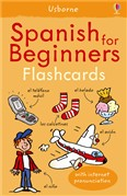 'Spanish for beginners flashcards' book cover