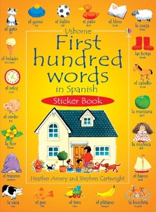 First hundred words in Spanish sticker book