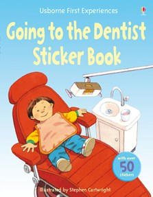 Going to the dentist sticker book