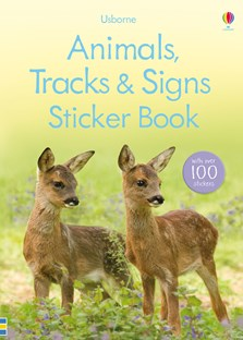 Animals, tracks and signs sticker book