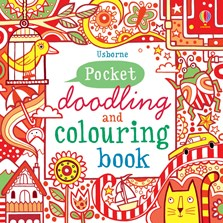 Pocket doodling and colouring book: Red