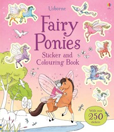 Fairy ponies sticker and colouring book