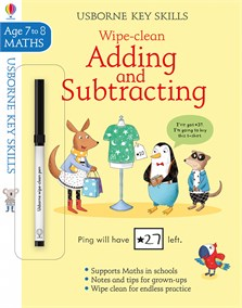 Wipe-Clean Adding and Subtracting 7-8