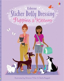 Sticker Dolly Dressing Puppies and Kittens