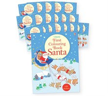 First colouring book Santa gift pack (20 copies)