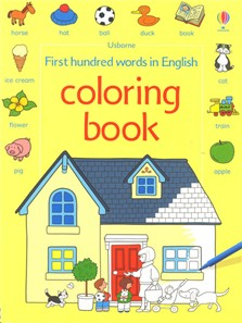 first hundred words in english coloring book - Usborne Coloring Books
