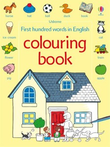 First hundred words in English colouring book