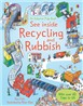 See inside recycling and rubbish