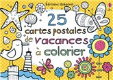 25 cartes postales vacances à colorier