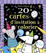 20 cartes d'invitation à colorier