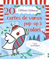 20 cartes pop-up de Noël  à colorier