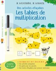 Les tables de multiplication (3,4,6)