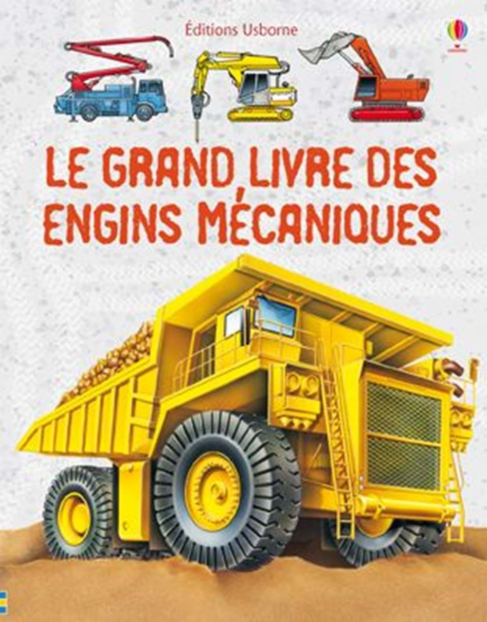 le grand livre des engins m caniques ditions usborne. Black Bedroom Furniture Sets. Home Design Ideas
