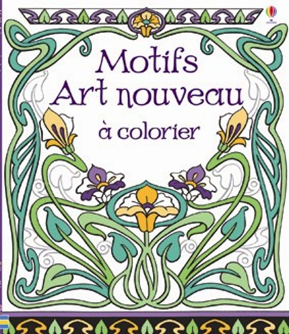 motifs art nouveau colorier ditions usborne. Black Bedroom Furniture Sets. Home Design Ideas