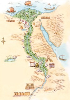 Ancient Egypt Virtual Tours And Movies In Usborne Quicklinks - Egypt interactive map